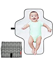BABEYER Portable Changing Pad, Large Waterproof Travel Baby Changing Mat, Travel Mat Station for Toddlers Infants & Newborns