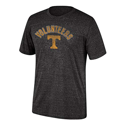 Top of the World NCAA Men's Tennessee Volunteers Dark Heather Heritage Tri-blend Tee Black Heather X - Tee Tennessee Volunteers Pack
