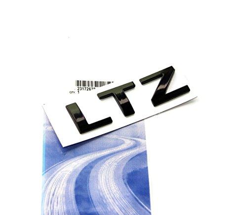 Yoaoo® 1x OEM Black LTZ Letter Nameplate Emblem Badge 2008-2015 Chevrolet Cruze Silverado Yukon Sierra Glossy