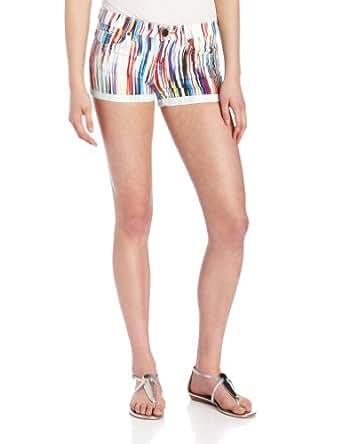 Dittos Women's Angie Roll Cuff Denim Short, Rainbow, 25