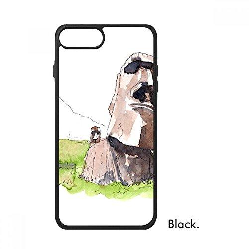 Moai Estatuas en Isla de Pascua para iPhone 8/8 Plus Fundas Phonecase Apple Cover Case Regalo, iphone 8 case