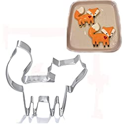 Funny Cute Fox Cookie Cutter Fondant Cake Mould Icing