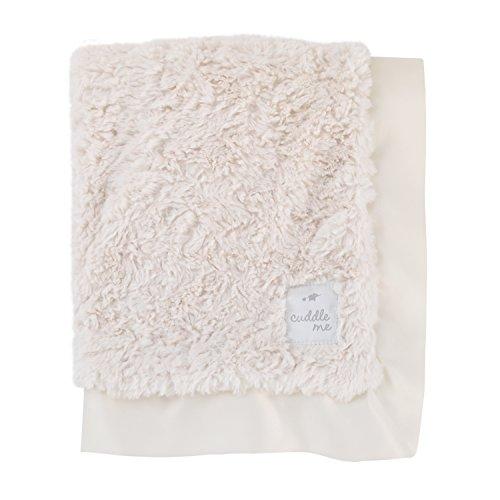 Cuddle Me Luxury Plush Blanket with Matte Satin Border, Ivory