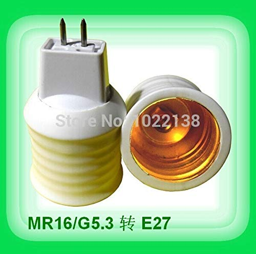 Halica 30pcs/lot MR16 to E27 LED Lamp holder socket Adapter lamp base Converter MR16-E27 lamp socket