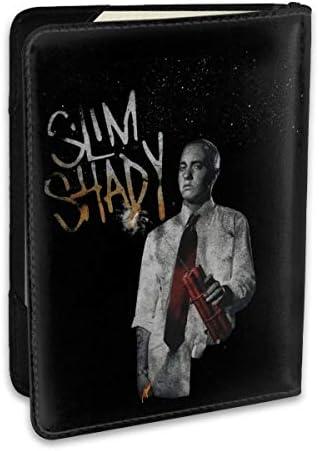 Eminem エミネム1 パスポートケース メンズ レディース パスポートカバー パスポートバッグ ポーチ 6.5インチ PUレザー スキミング防止 安全な海外旅行用 収納ポケット 名刺 クレジットカード 航空券