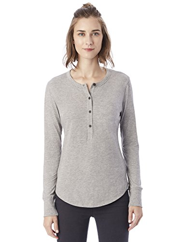 Alternative Women's Heathered Organic Pima Henley Shirt