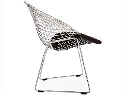 Chaise Bertoia Wire Diamond Noir Famous Design Meilleurs Cadeaux