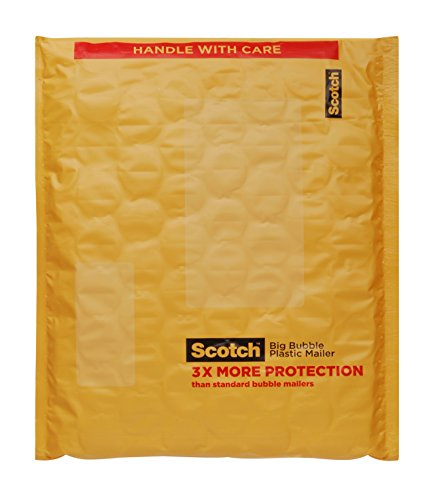 Scotch Big Bubble Plastic Mailer, 8 in x 10.5 in, 4-Pack (BB8914-48)