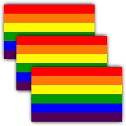 Anley Pegatinas reflectantes para coche de 12,7 x 7,6 cm, diseño de bandera del arco iris, lesbianas, gays, bisexuales, transgénero, orgullo de auto, 3 unidades: Amazon.es: Hogar