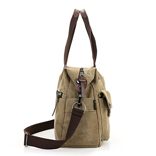 Aimmer Castle Unisex Canvas Clutch Casual Hnadbags Khaki Acg013