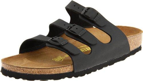 Birkenstock Women's Florida Sandals,Black,38 N EU / 7-7.5 AA(N) US by Birkenstock