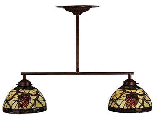 Pendant Light Pinecone 2 (Meyda Tiffany 123357 Pinecone Dome 2 Light Island Pendant Light Fixture, 27