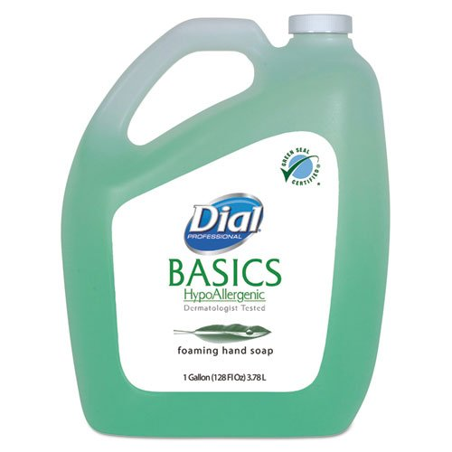 Dial Professional Basics Foaming Hand Wash, Original Formula, Fresh Scent, 1 Gallon Bottle - Includes four per case. by Dial