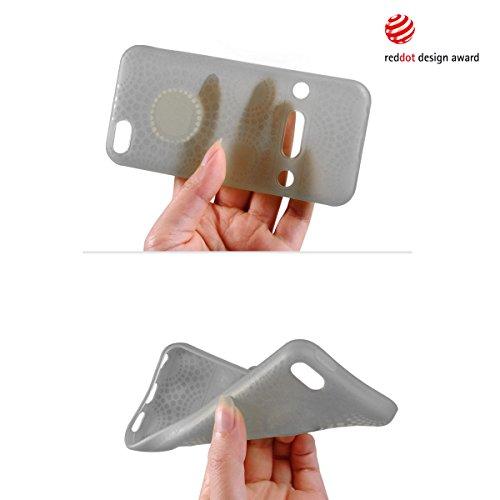 Alienwork Coque pour iPhone 5C ultra-mince Case Etuis Housse Anti chocs Plastique gris AP5C06-01