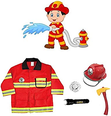 Atuendo Disfraz de bombero navideño de juguete para niños Juego de ...