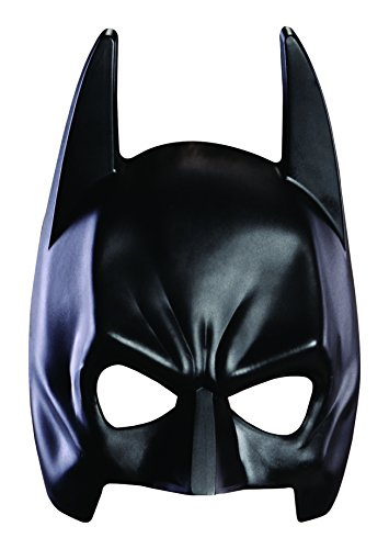 Knight Costumes Mask (Batman The Dark Knight Rises Mask, Black, Adult)