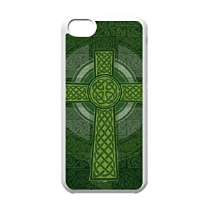 iPhone 5c Cell Phone Case White Radiant Cross Green Pcnwo