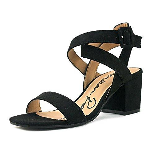 Sandalias American Sneak Sneakers Con Tacón Abierto Para Mujer Caña Negra
