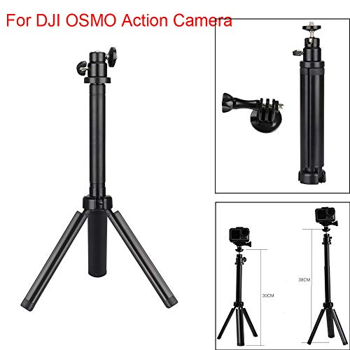 Telescoping Selfie Stick with Tripod Stand Compatible with DJI OSMO Action Self-Timer 360 Degree Rotation Camera Anti-Skid Anti-Skid Adapter
