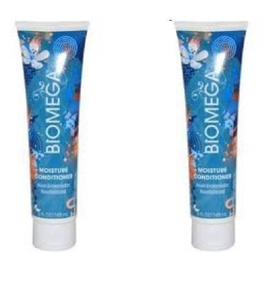 BIOMEGA Moisture Conditioner for Dry & Damaged Hair TRAVEL MINI 2oz (PACK of 2!)