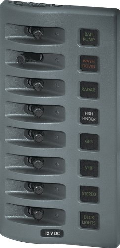 Systems Accessories Panel (Blue Sea Systems Water-Resistant 8-Gang Panel (7-3/4 x 3-7/8-Inch))