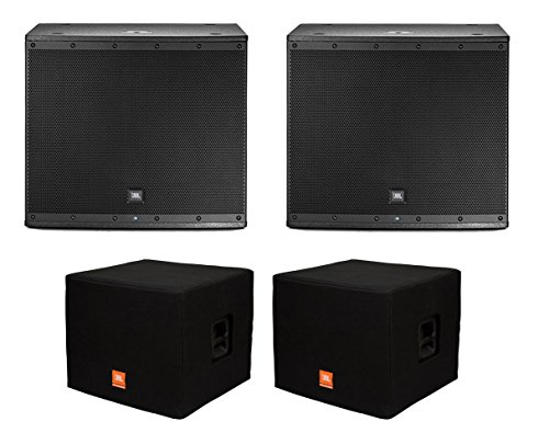 2x JBL EON618S Active Subwoofer Powered Sub Speaker + Covers