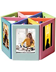 YUESUO Refrigerator Magnets for Polaroid Photos Multi-Shape Magnetic Picture Frame 3.3 x 2.16 inch Plastic Refrigerator Photo Insert Holder for Fridge Office Cabinet Locker 10 Pack¡