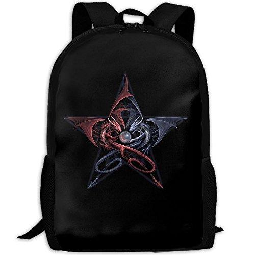 Markui Adult Travel Hiking Laptop Backpack Artwork Design School Multipurpose Durable Daypacks Zipper Bags Fashion by Markui