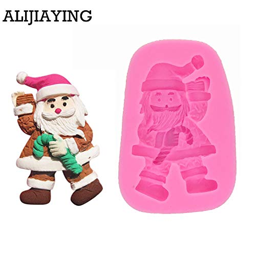 M0436 Santa Claus candle mold DIY silicone cake mold Christmas decoration mould Father Christmas soap form cake tools ()