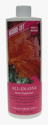 Microbe-Lift All-In-One Master Supplement for Reef Fish Tanks, 16-Ounce
