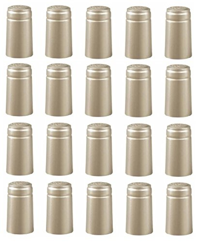 100 Shrink Caps - Solid Silver - with Tear Off 100