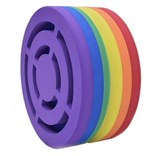 Body Wheel Yoga Wheel for Yoga, Stretching, Fitness, and Relaxation: Designed for Comfort and Versatility (15-inch Rainbow)