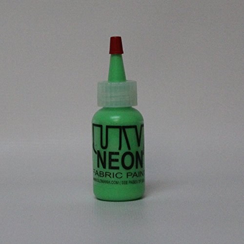 Green UV Reactive Fabric Material Paint 4oz -