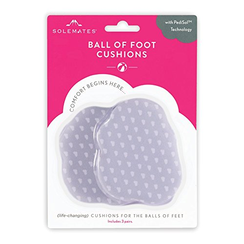 Ball of Foot Cushions - Ultra Thin Padding for Shoes - Heel Ball Cushions with Pad Ball - Thin Shoe Inserts for Women - Insoles for All Shoes - 3-Pair (Best Shoes For Sore Balls Of Feet)