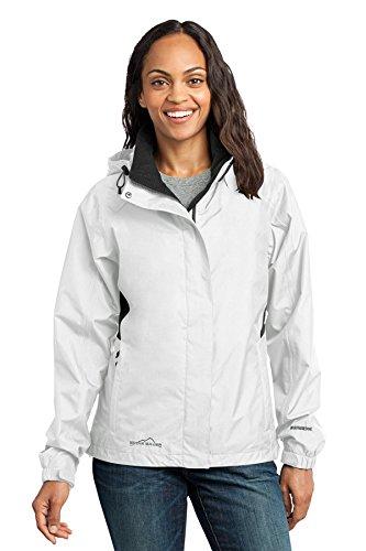 Eddie Bauer - Ladies Rain Jacket, White/Grey Steel, XXX-Large - Grey Steel Rain Jacket