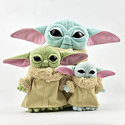 Amazon Com 2pack Baby Yoda Plush Toy Combination 30cm And The 20cm Mandalorian Toy Dolls 3pcs Toys Games