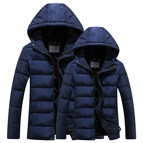 Maschio Cappotti Uomini Giù Seniormar Moda Blu Cotone Hoodies Incappucciati Caldi Inverno Giacche Casuali Comodi Mantenere Xl Parka In p6rqxpzw