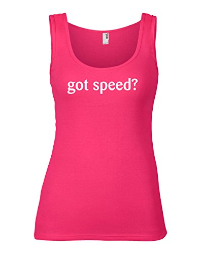 ShirtLoco Women's Got Speed Tank Top, Hot Pink Small