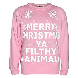 A2Z 4 Kids Kids Girls Boys Christmas Jumper Novelty Santa Floss A2Z Fashion Xmas Festive Costume Sweatshirts Trendy Gift…