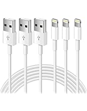 Cellhelmet 3Pack Apple MFi Certified iPhone Charger 1m, iPhone Lightning to USB Cable 1 Meters, Super Fast Apple iPhone Charging Cable for iPhone 12/12mini/11/Pro/Max/X/XS/XR/XS Max/8/7/6,ipad (1m) (White, 3Pack)