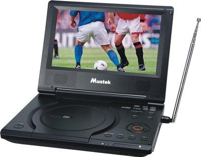 Mustek MP86ATV 8,5 Zoll Tragbarer DVD-Player / Analog TV / Video-Monitor 3-in-1 mit SD / MMC / MS Karten-Slot und USB-Anschluss