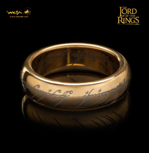 Unbekannt Lord of The Rings Tungsten Ring The One Ring (Gold Plated) Size 09 Weta Ringe