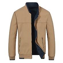 Men's Light Windbreaker Casual Cotton Jacket