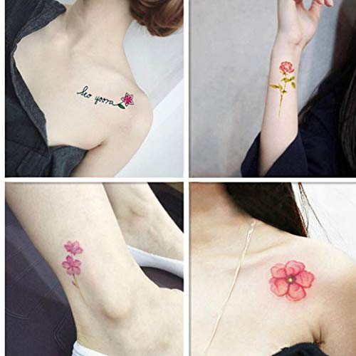Mujer Linda Tatuaje Temporal Tatuaje Falso Pequeño Cuerpo ...
