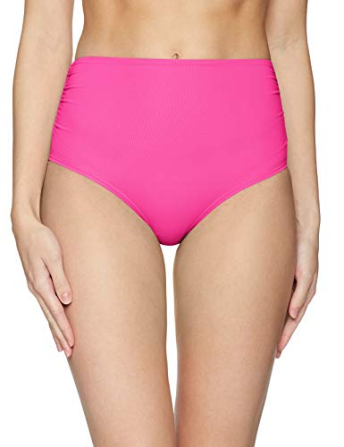 Anne Cole Women's High Waist to Fold Over Shirred Bikini Bottom Swimsuit, New Pink, Small ()