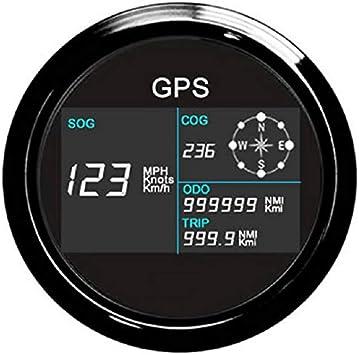 Eling Gps Tachometer Digitale Geschwindigkeitsanzeige Kilometerzähler Kilometerzähler Für Auto Marine Mit Gps Antenne 7 Hintergrundbeleuchtung 85mm Auto