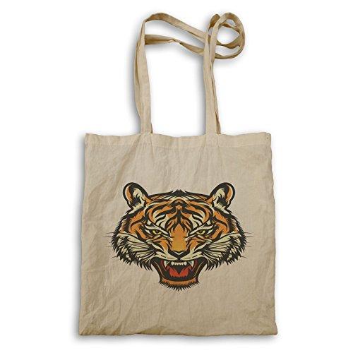 Wütendes Tigergesicht Tragetasche u614r