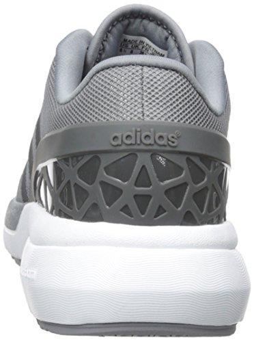 Adidas Neo Mens Cloudfoam Flödes Sko Grå / Mörk Fast Grå