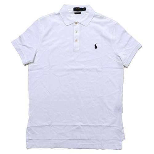 Polo Ralph Lauren Men's Classic Fit Pima Stretch Mesh Polo Shirt (Bright White, L) (Polo Shirt Mesh Pima)