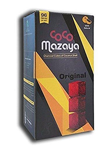 Coco Mazaya Hookah Shisha Charcoal, Includes a Tsc Sticker, Pack of 96